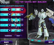 Transformers Prime Vector Sigma Bot Builder
